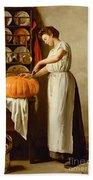 Cutting The Pumpkin Hand Towel