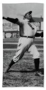 Cy Young With The Boston Americans 1908 Hand Towel