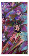 Cymbidium Carnival Bath Towel