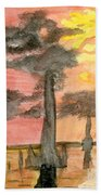 Cypress Sunset Bath Towel