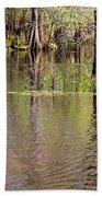 Cypresses Reflection Bath Towel