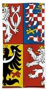 Czech Republic Coat Of Arms Bath Towel
