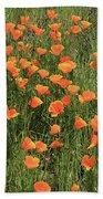 d7b6307 California Poppies Bath Towel