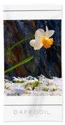 Daffodil Poster Bath Towel