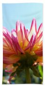 Dahlia Floral Garden Art Prints Canvas Summer Blue Sky Baslee Troutman Bath Towel