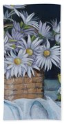 Daisies In Still Life Hand Towel