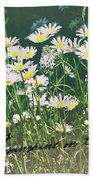 Daisies Quote Bath Sheet