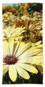 Daisies Yellow Daisy Flowers Garden Art Prints Baslee Troutman Bath Towel