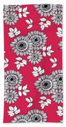 Daisy Flower Bouquet Bath Towel