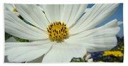 Daisy Flower Garden Artwork Daisies Botanical Art Prints Bath Towel