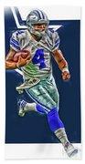 Dak Prescott Dallas Cowboys Oil Art Series 3 Hand Towel