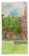 Edale Church And Beautiful Landscape Bath Towel
