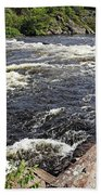 Dalles Rapids French River I Bath Towel