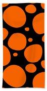 Dalmatian Pattern With A Black Background 03-p0173 Bath Towel