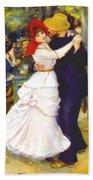 Dance At Bougival 1883 Bath Towel