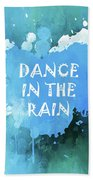 Dance In The Rain Cool Blue Hand Towel