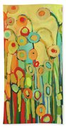 Dance Of The Flower Pods Hand Towel by Jennifer Lommers