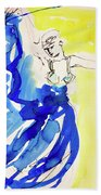 Dancer In Blue Hand Towel