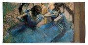 Dancers In Blue Bath Towel