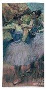 Dancers In Violet  Bath Towel