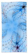 Dancing Blue Flower Star In Motion Bath Towel