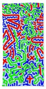 Dancing Dogs After Keith Haring 1958-90 Bath Towel