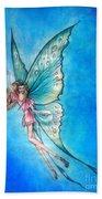 Dancing Fairy In Blue Sky Bath Towel