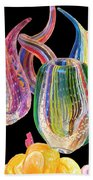Dancing Glass Objects Bath Towel