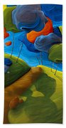 Dancing Shadows Bath Towel