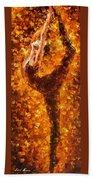 Dancing Twist - Palette Knife Oil Painting On Canvas By Leonid Afremov Bath Towel