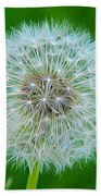 Dandelion Seed Head Expressionist Effect Bath Towel