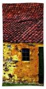 Danish Barn Watercolor Version Bath Towel