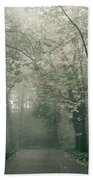 Dark Gloomy Alley In Woods Bath Towel