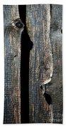 Dark Old Wooden Boards With Shadow Bath Towel