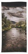 Dark River Woods Bath Towel