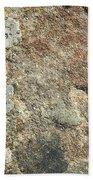 Dark Sandstone Surface With Moss Bath Towel