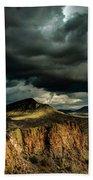 Dark Storm Clouds Over Cliffs Bath Towel