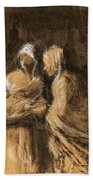 Daumier: Virgin & Child Bath Towel