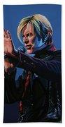 David Bowie Live Painting Bath Towel