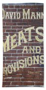 David Mann - Meats And Provisions Bath Towel