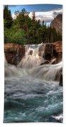Dawn Upon Swiftcurrent Falls  Bath Towel