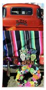 Day Of The Dead Truck Decorations  Bath Towel