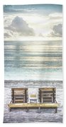 Daydreaming By The Sea In Watercolors Bath Towel