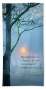 Days Of Darkness Hand Towel