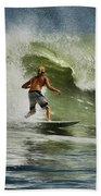 Daytona Beach Surfing Day Bath Towel
