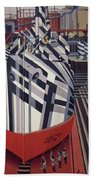 Dazzle Ships In Drydock At Liverpool Hand Towel