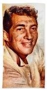 Dean Martin, Hollywood Legend By John Springfield Bath Towel