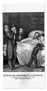 Death Of President Lincoln Bath Towel