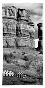 Death On Notom-bullfrog Road - Capitol Reef - Bw Bath Towel