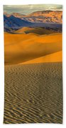 Death Valley Golden Hour Bath Towel